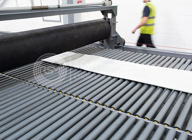 curing very large liner using the in-house impregnation system