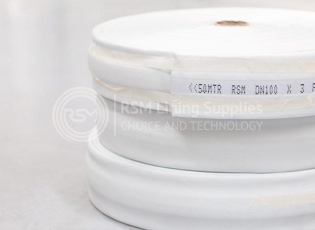rolls of 100mm diameter liner